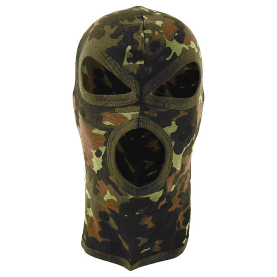 MFH 3 Hole Balaclava Lightweight Cotton Flecktarn