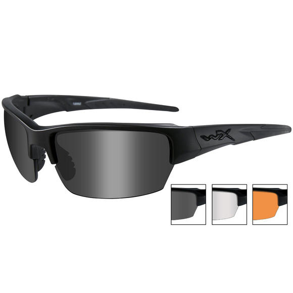Wiley X WX Saint Glasses - Smoke + Clear + Light Rust Lens / Matte Black Frame