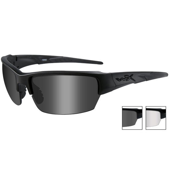 Wiley X WX Saint Glasses - Smoke Grey + Clear / Matte Black Frame