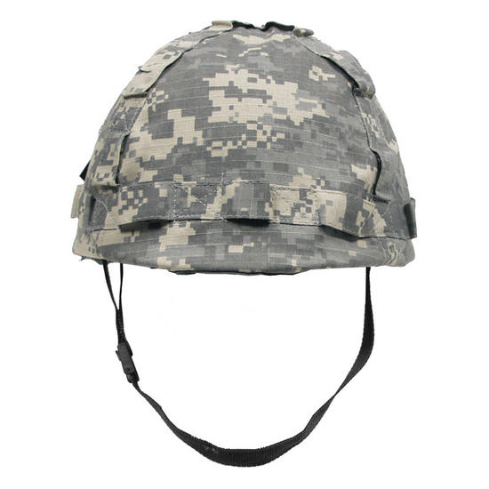 Plastic Helmet with ACU Digital Camo Cloth Cover