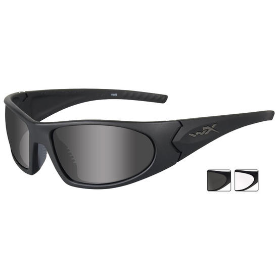 Wiley X Romer 3 - Smoke Grey + Clear Lens / Matte Black Frame