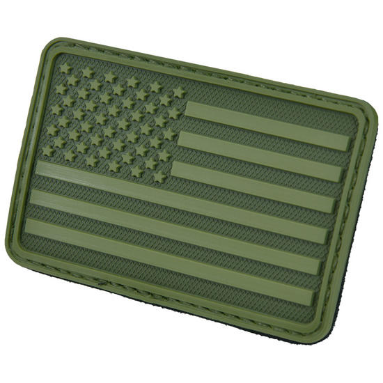 Hazard 4 USA Flag Left Arm Morale Patch Olive Green