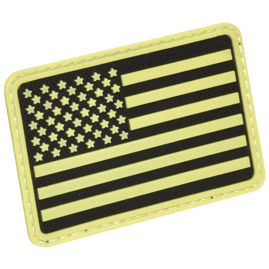 Hazard 4 USA Flag Left Arm Morale Patch Glow in the Dark