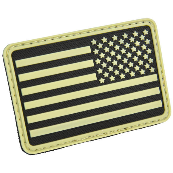 Hazard 4 USA Flag Right Arm Morale Patch Glow in the Dark