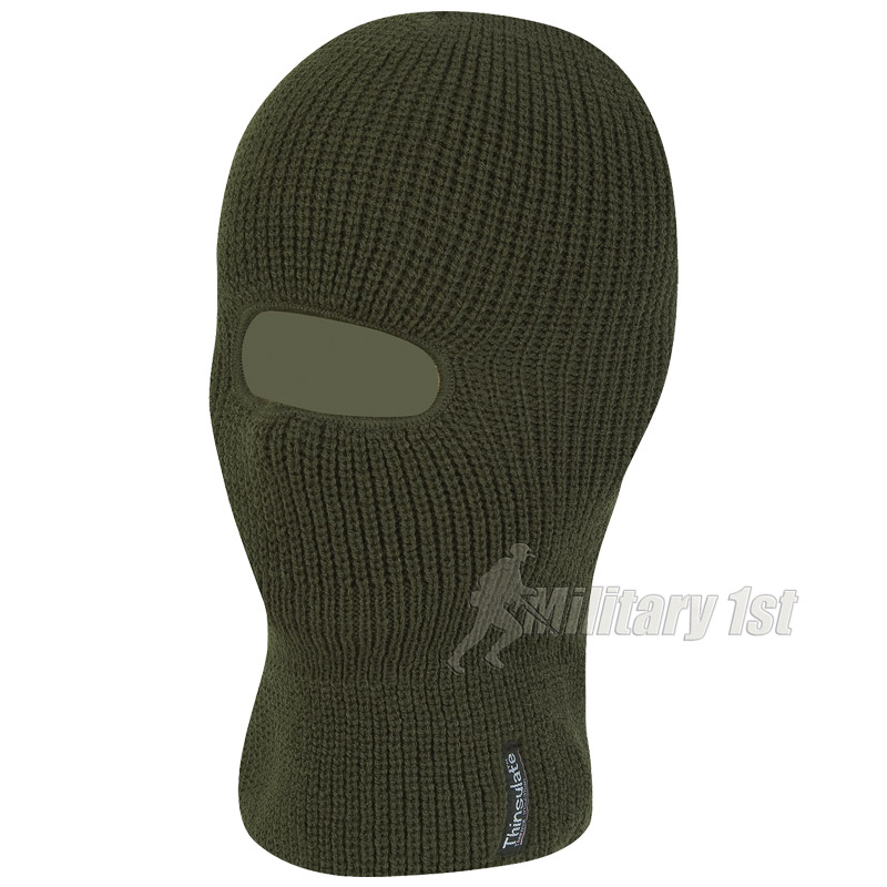 JACK PYKE THINSULATE LINED OPEN FACE BALACLAVA :: OLIVE