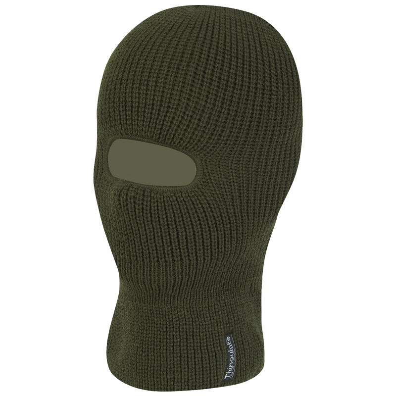 JACK PYKE WARM WINTER COMBAT TACTICAL OPEN FACE BALACLAVA THINSULATE LINED OLIVE