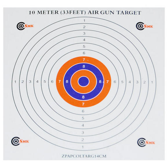 SMK Colour Centre 14cm Paper Targets (100 Pack)