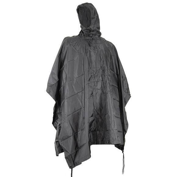Mil-Com Waterproof Poncho Ripstop Black