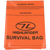 Highlander Double Emergency Survival Bag Orange
