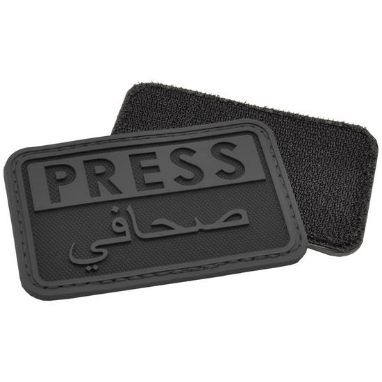 Hazard 4 3D Press / Arabic Reporters Morale Patch Black