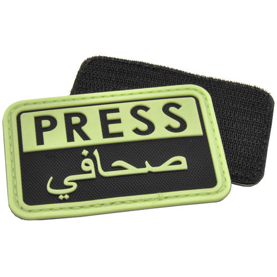 Hazard 4 3D Press / Arabic Reporters Morale Patch Glows in the Dark