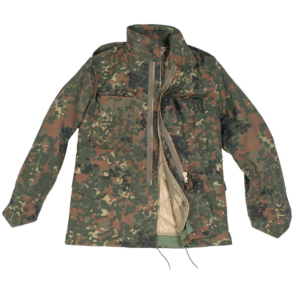 mil tec classic us m65 jacket flecktarn m65 military 1st. Black Bedroom Furniture Sets. Home Design Ideas