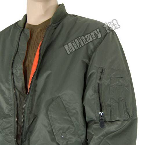Army MA1 Pilot Combat Flight Military Style Mens Cadet Bomber ...