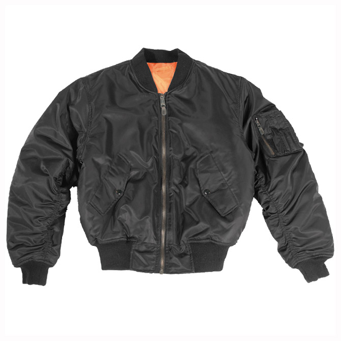 Mil-Tec MA-1 Flight Jacket Black | Flight | Military 1st