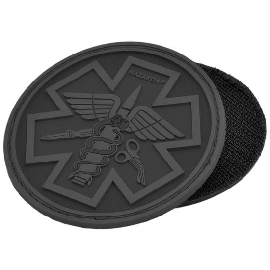 Hazard 4 3D Combat Caduceus Paramedic Morale Patch Black