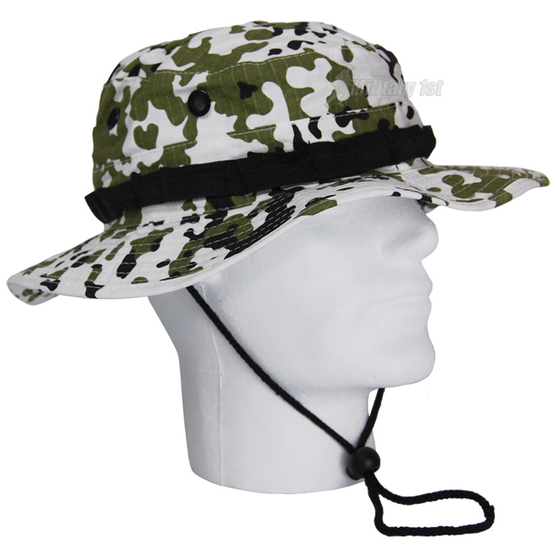 Gi ripstop army boonie bush jungle hat fishing hunting cap for Fishing boonie hat