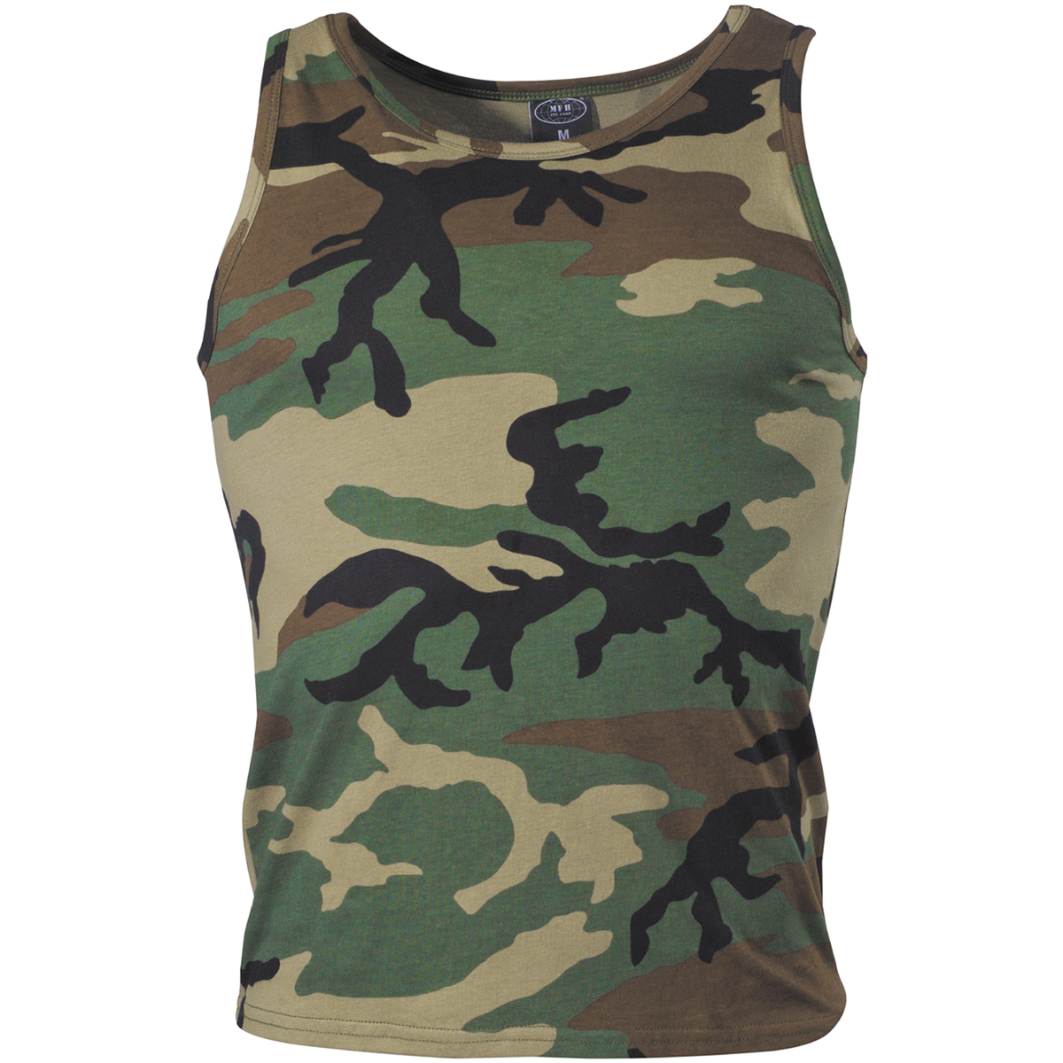 ARMY-COMBAT-TANK-TOP-MILITARY-CADET-MENS-VEST-COTTON-SINGLET-WOODLAND-CAMO-S-XXL