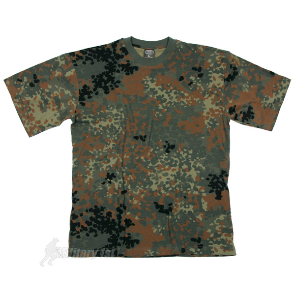 army mens top combat t shirt military tee bw flecktarn. Black Bedroom Furniture Sets. Home Design Ideas