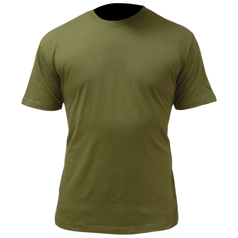 Military Cotton T Shirt Army Cadet Olive Green Tee British