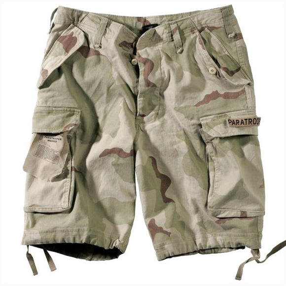 Paratrooper Cargo Shorts Prewashed 3-Colour Desert