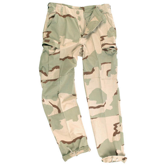 Teesar BDU Trousers Ripstop Prewashed 3-Color Desert
