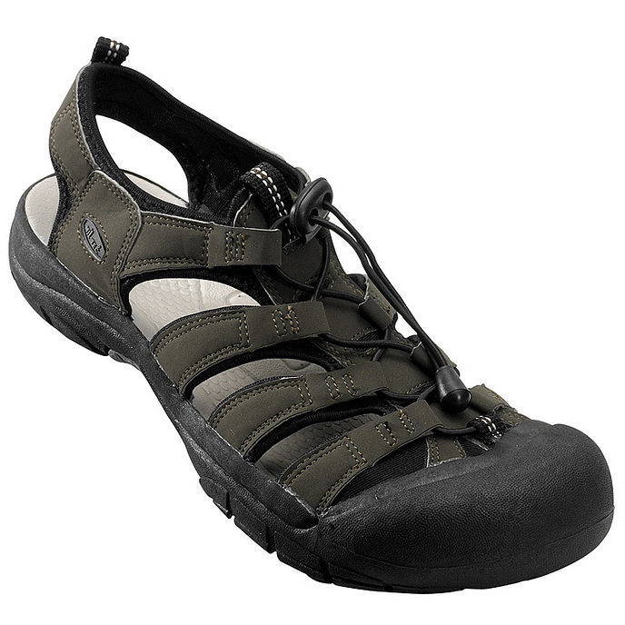 BLACK COMBAT TACTICAL ARMY SANDALS REINFORCED TOE MENS HIKING CAMPING 5 12