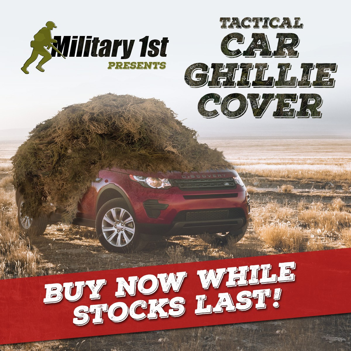 Tactical Car Ghillie Cover