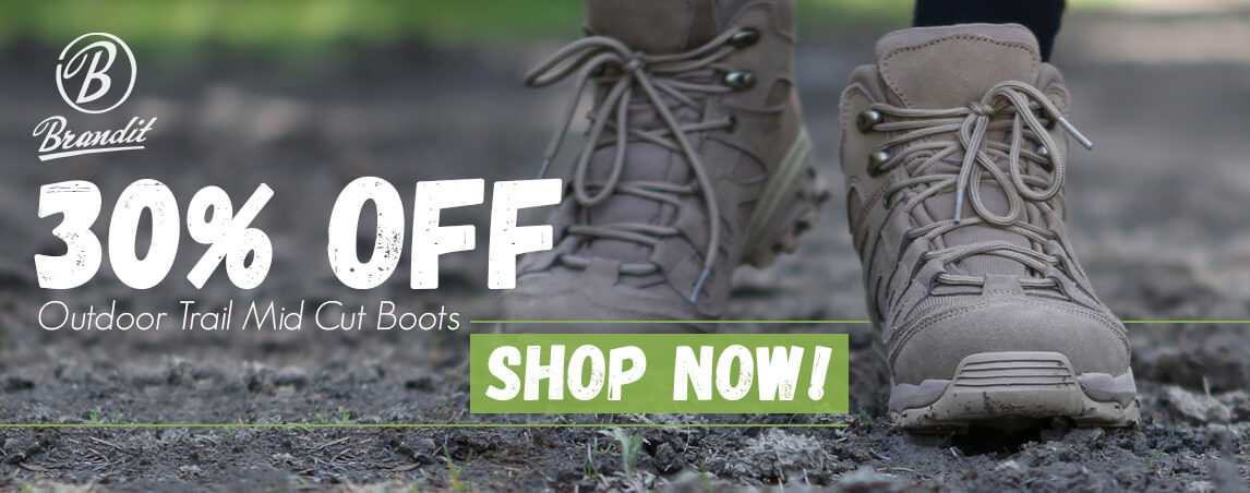 30% off Brandit Outdoor Trail Mid Cut Boots!