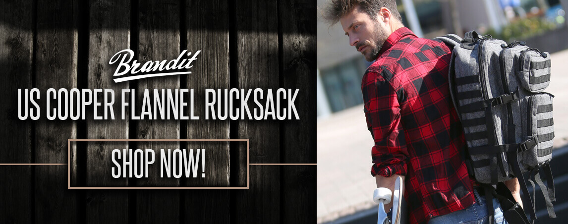 Brandit US Cooper Flannel Rucksack Large