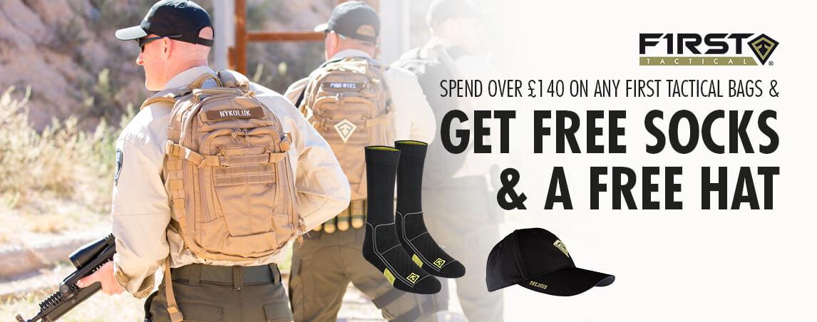 First Tactical Bags Socks Cap Promo 2017