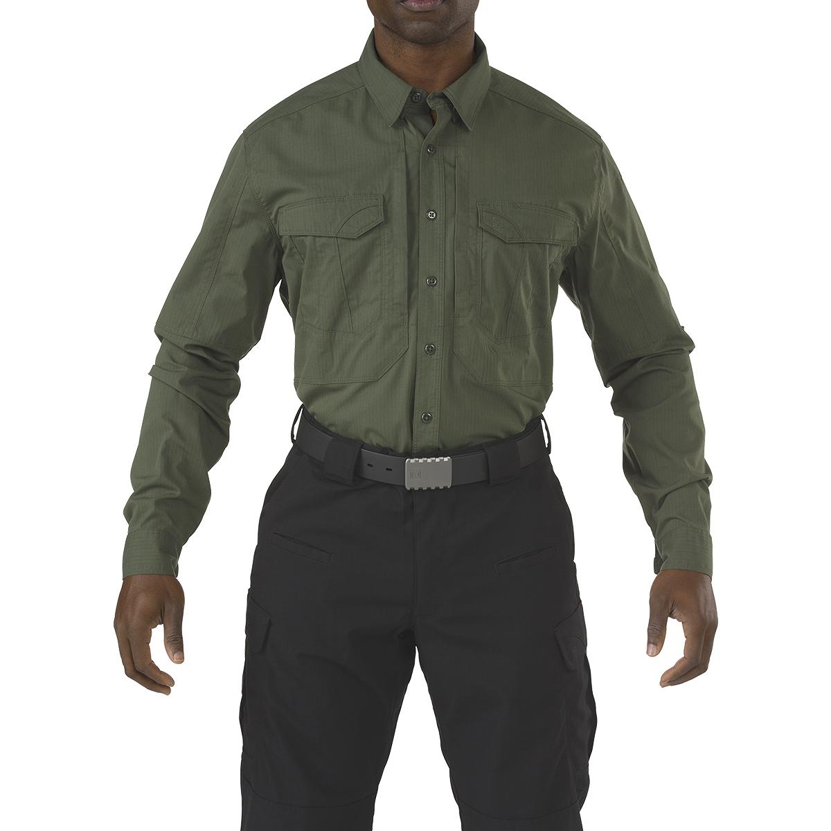 5.11 Tactical Mens Hunting Stryke Shirt Long Sleeve Hiking Ripstop Top Tdu Green