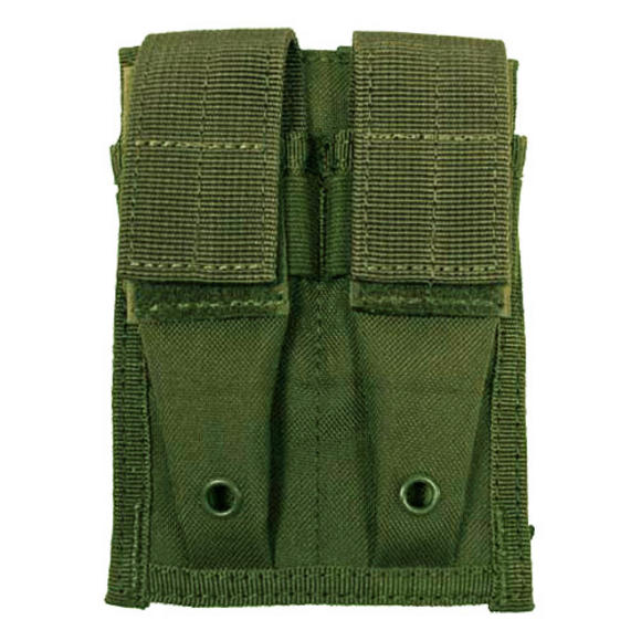 MFH Double 9mm Magazine Pouch Small MOLLE Olive