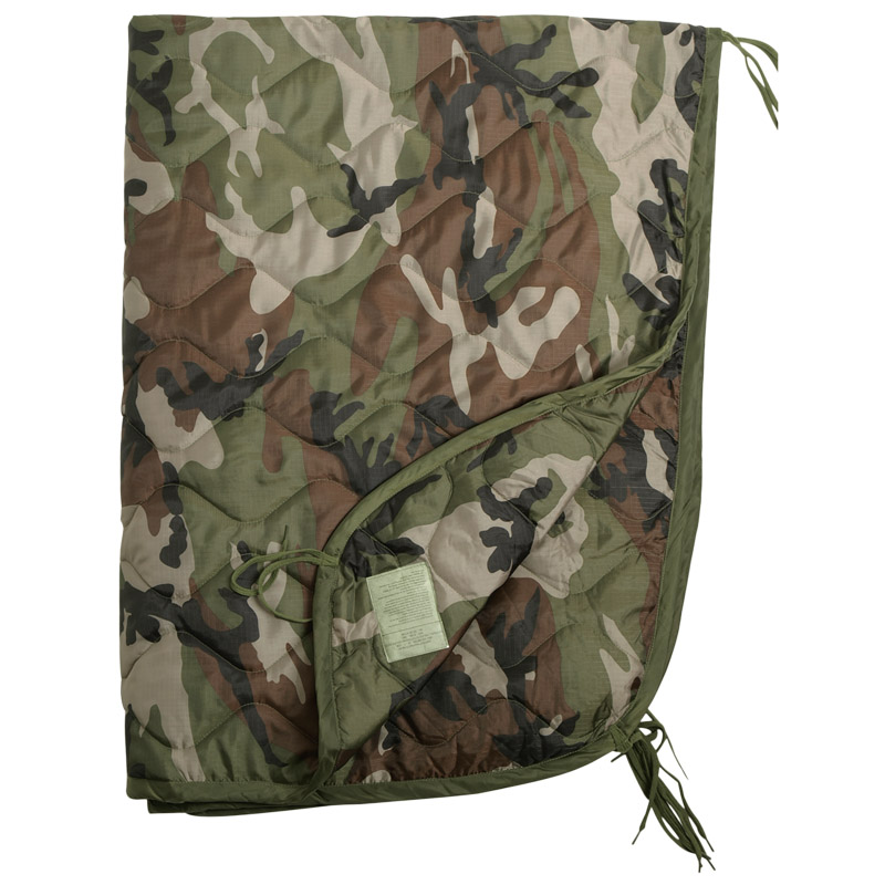 ripstop poncho liner travel sleeping bag quilted padded mat french army cce camo ebay. Black Bedroom Furniture Sets. Home Design Ideas