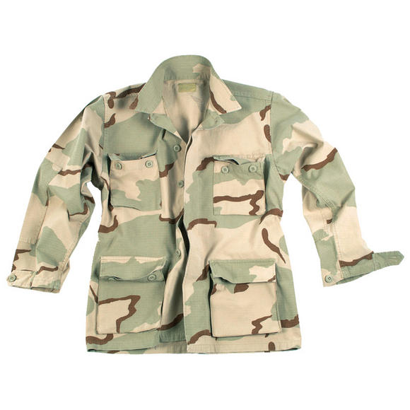 Teesar BDU Shirt Ripstop Prewashed 3-Color Desert