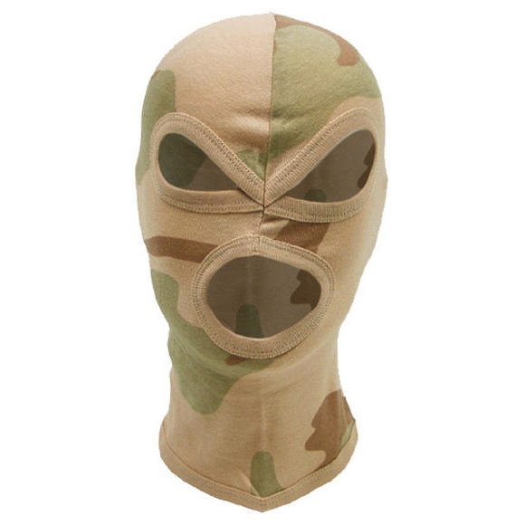 MFH 3 Hole Balaclava Lightweight Cotton 3-Colour Desert