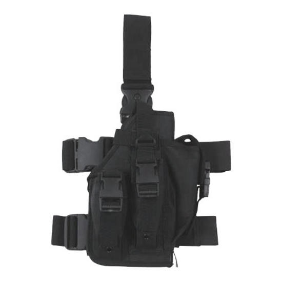 MFH Leg Holster with 3 Mag Pouches Black