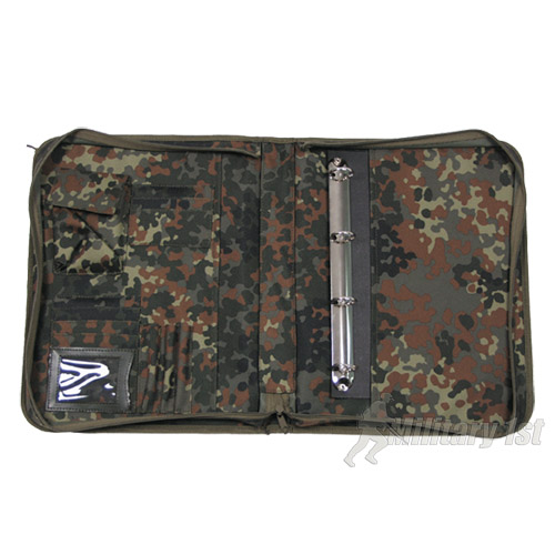 STUDENT ZIP UP WRITING CASE MAP COVER A4 FLECKTARN CAMO