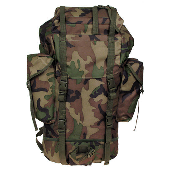 MFH German Army Rucksack 65L Woodland