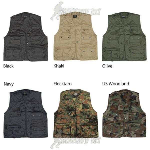 Multi pocket utility vest