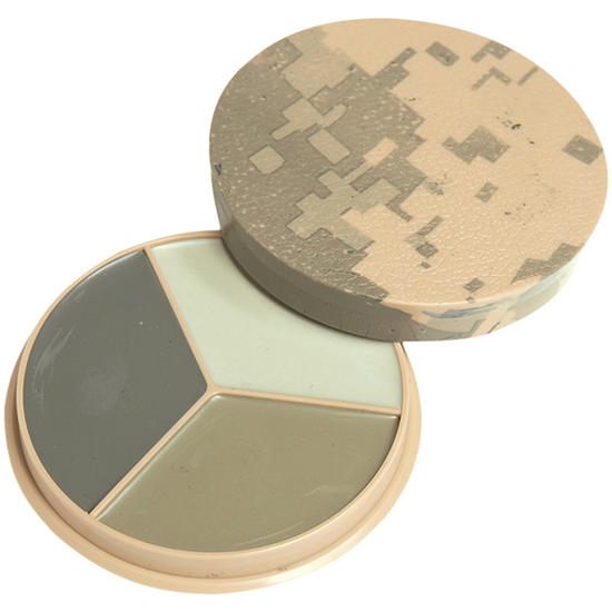 Mil-Tec Camo Face Paint 3 Colours with Mirror ACU Digital