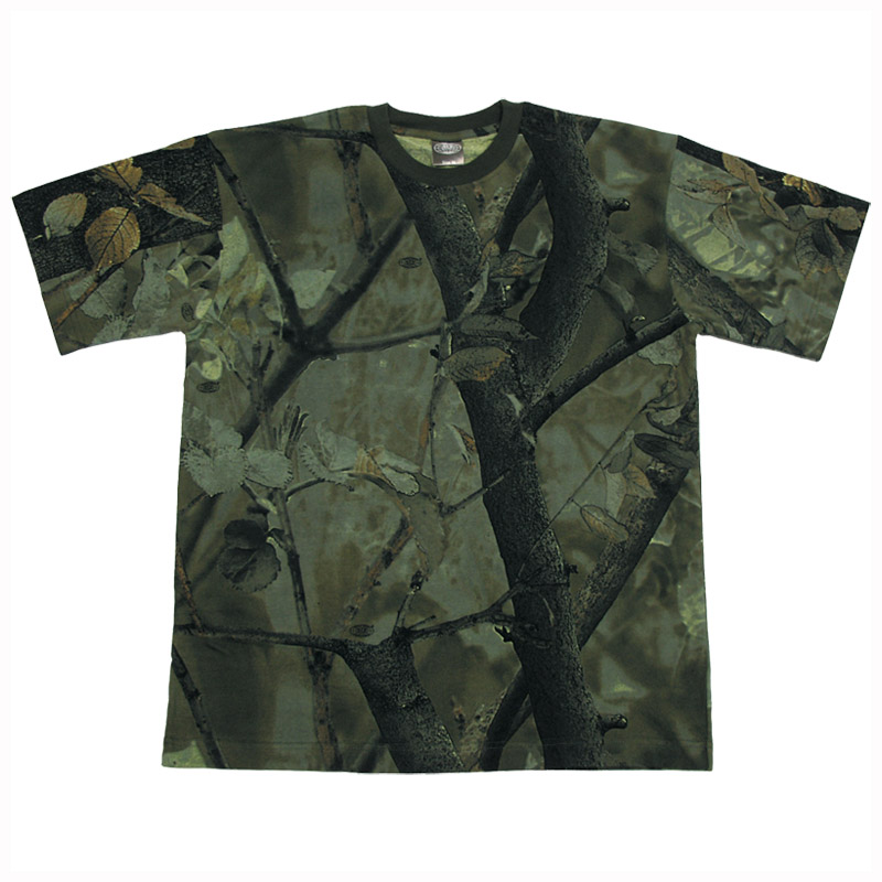 Hunting fishing trapper camouflage top camo mens t shirt for Camo fishing shirt