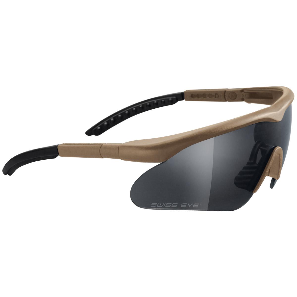 Coyote Sunglasses  swiss eye raptor glasses coyote frame ballistic glasses