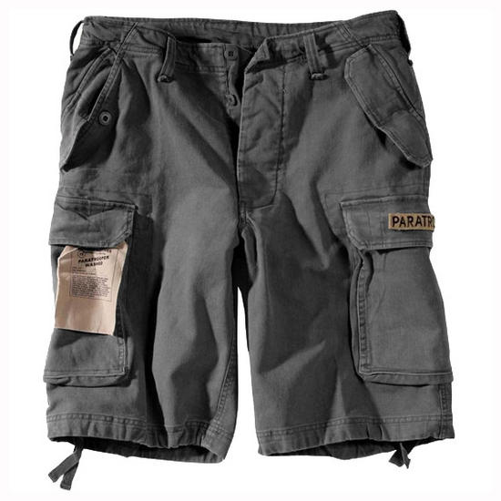 Paratrooper Cargo Shorts Prewashed Black