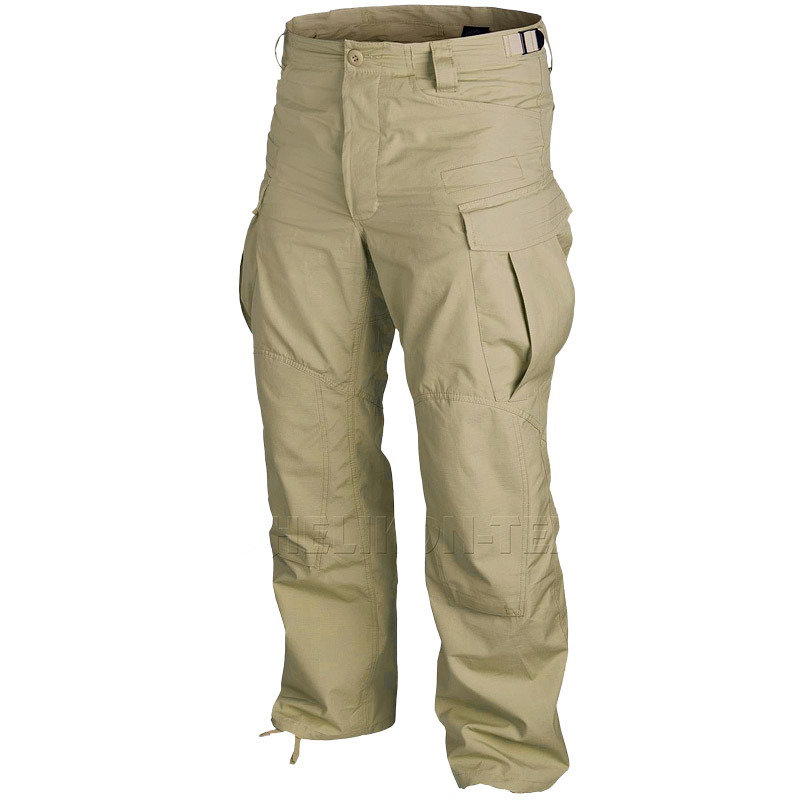 SFU TACTICAL MENS COMBAT ARMY TROUSERS CARGO SECURITY COTTON RIPSTOP BEIGE KHAKI