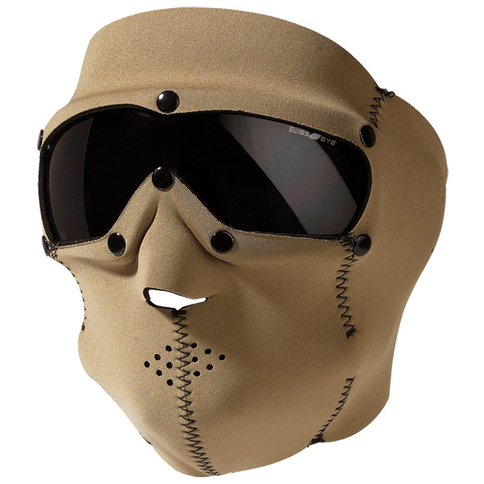 SWISS EYE TACTICAL FULL FACE MASK + BALLISTIC GOGGLES AIRSOFT CYCLING COYOTE TAN
