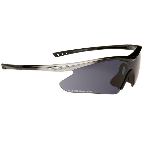 Swiss Eye F-16 Glasses Silver/Black Frame
