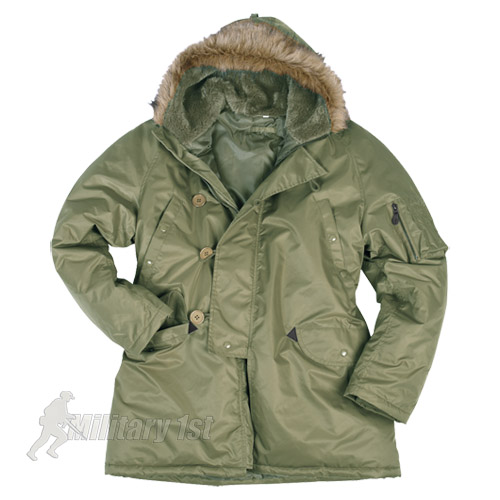ARMY-N3B-SNORKEL-PARKA-COLD-WEATHER-MILITARY-STYLE-JACKET-OLIVE-GREEN-XS-3XL