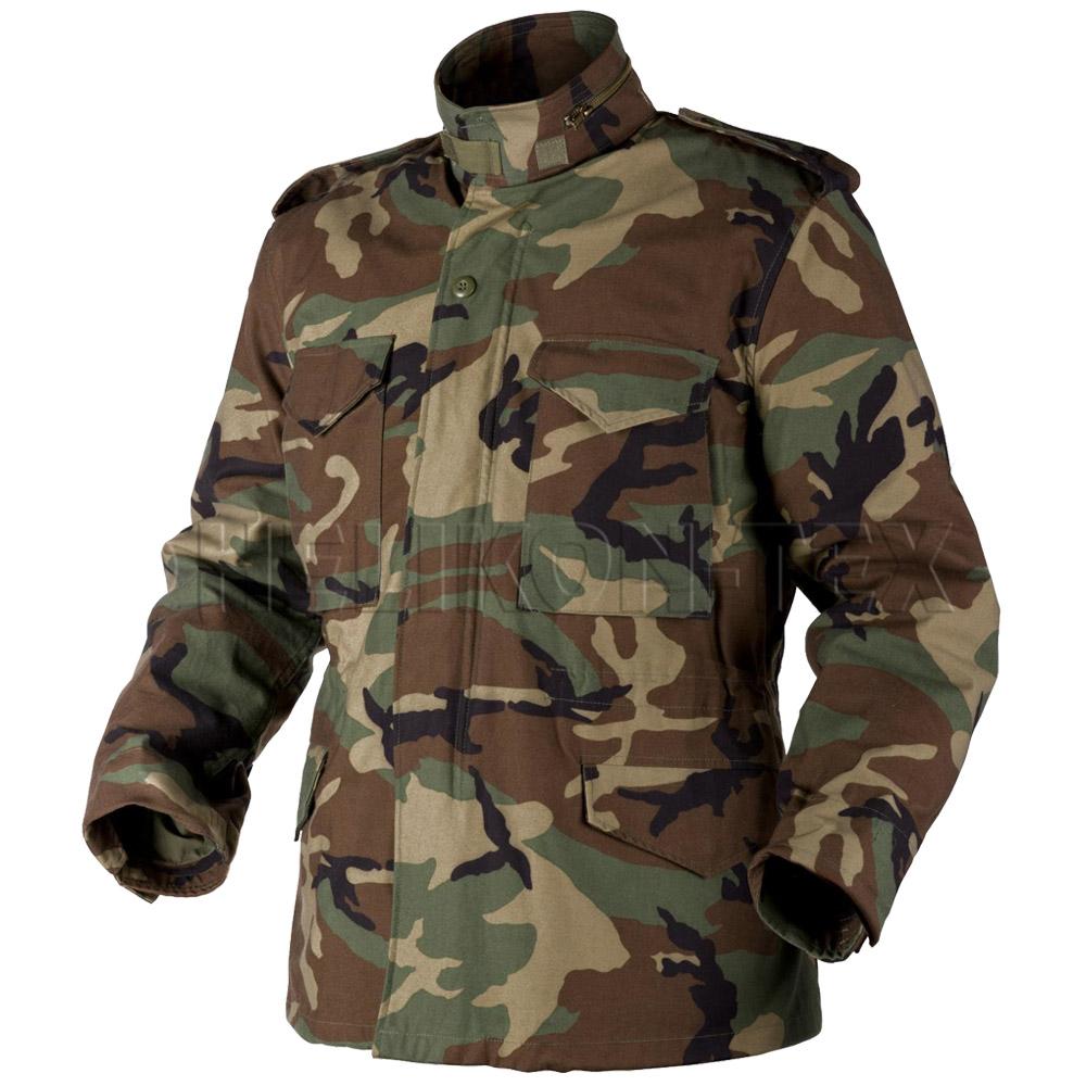 helikon genuine m65 military field jacket army combat parka woodland camo s 3xl ebay. Black Bedroom Furniture Sets. Home Design Ideas