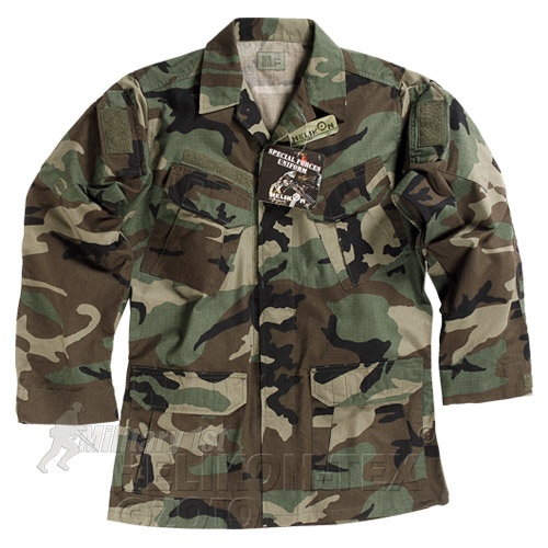 SFU HELIKON TACTICAL UNIFORM COMBAT SHIRT TOP AIRSOFT ARMY WOODLAND CAMO S-XXL