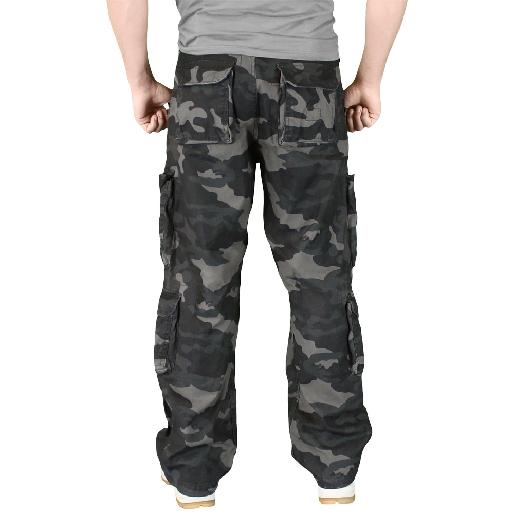 Surplus Airborne trousers in black camo are on sale now at the Military 1st tactical online store. We offer range of army style clothing and tactical accessories, and will ship across the U.S.A.